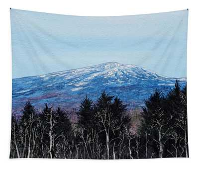 Mt. Monadnock Spring Snow Tapestry