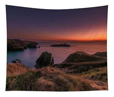 Mullion Cove - Sunset 2 Tapestry