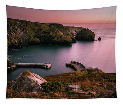 Mullion Cove Sunset - Cornwall General View Tapestry