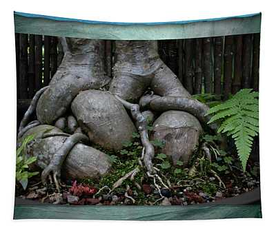 Muscular Bonsai Roots Tapestry
