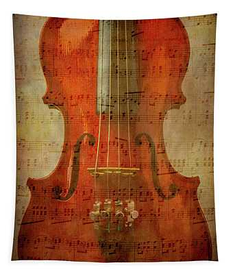 Musical Note Violin Tapestry