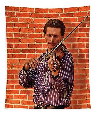 Musician Playing Violin Tapestry