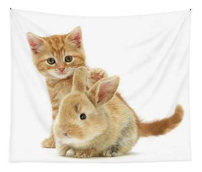 My Baby Bunny Love Tapestry