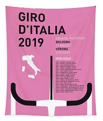 My Giro Ditalia Minimal Poster 2019 Tapestry