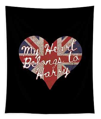 My Heart Belongs To Prince Harry Tapestry