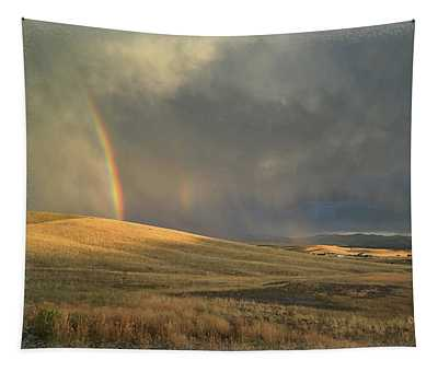 My Sky View #5 Rainbows And Clouds Tapestry