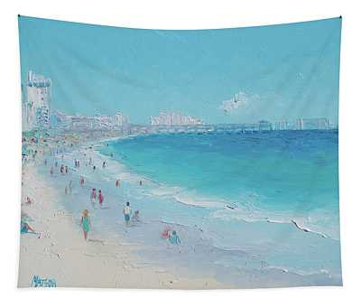 Myrtle Beach And Springmaid Pier Tapestry