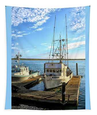Nadine Crab Boat Morro Bay California Tapestry