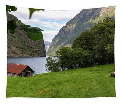Naeroyfjord, Norway Tapestry