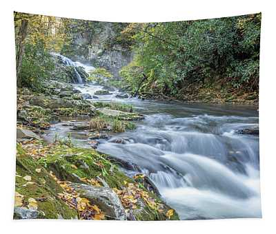 Tapestry featuring the photograph Nantahala Fall Flow by David R Robinson