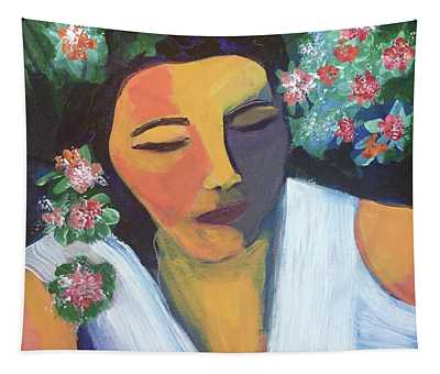 Nap In The Garden Tapestry