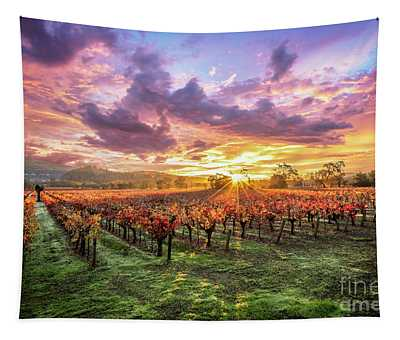 Napa Sunrise Tapestry