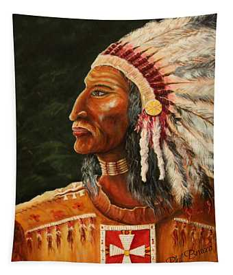 Native American Indian Chief Tapestry