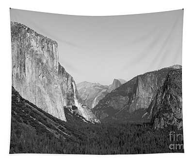 Nature At Its Best - Black-white Tapestry