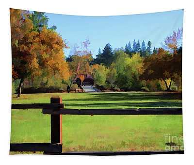 Nature Colors Landscape Pasture  Tapestry