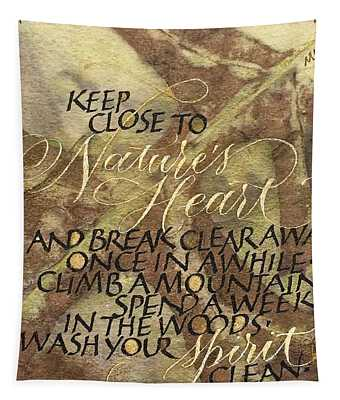 Nature's Heart Tapestry