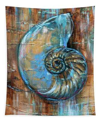 Nautilus Fossil Tapestry