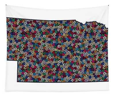 Nebraska Map - 1 Tapestry