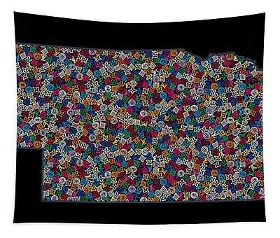 Nebraska Map - 2 Tapestry