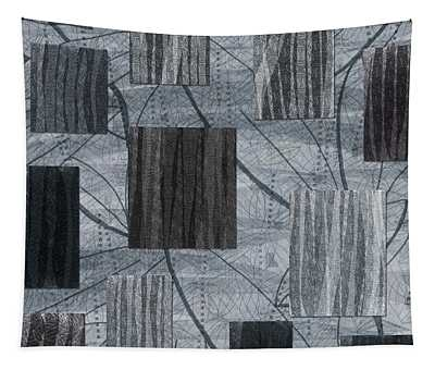 Neutral Toned Leaf Square Print Tapestry