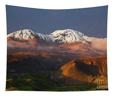 Nevados De Putre Volcanoes Chile Tapestry