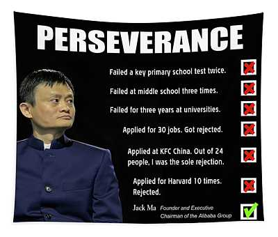 Never Give Up - Jack Ma, Founder Of Alibaba Group Tapestry