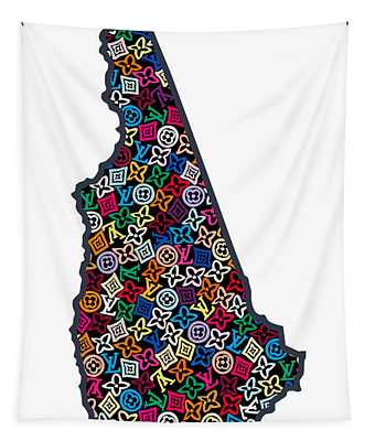New Hampshire Map - 1 Tapestry