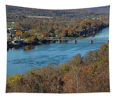 New Hope Pa From On High Tapestry