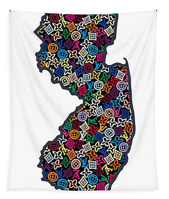 New Jersey Map - 3 Tapestry