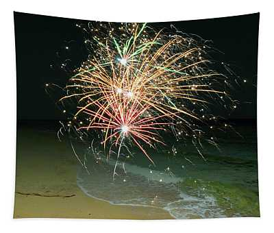 New Years Eve By The Seashore In Dreamland 2 Tapestry