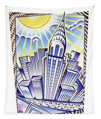 New York Chrysler Building Tapestry