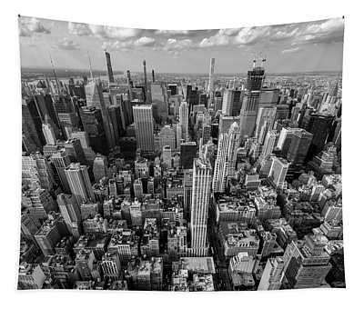 New York City Black White Tapestry