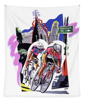 New York Cyclists Tapestry