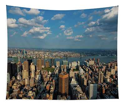 New York Skyline Empire State Tapestry