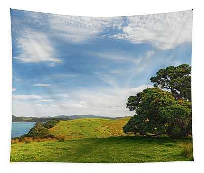 New Zealand Landscape And Pohutukawa Tree Tapestry