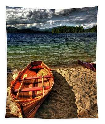 Newfound Lake Rowboat Tapestry