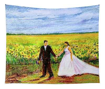 Newly Weds Tapestry