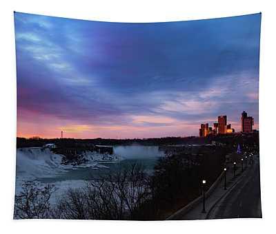 Niagara Falls At Sunrise Tapestry