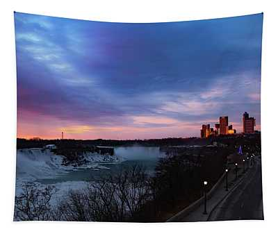 Niagara Falls At Sunrise Tapestry