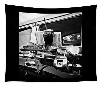 Night At The Drive-in Movies Tapestry