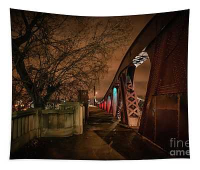 Night Bridge Tapestry