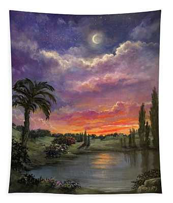 Night By Light Of Day Tapestry