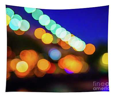 Night Lights Abstract Photography Tapestry