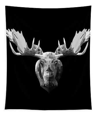 Night Moose Tapestry