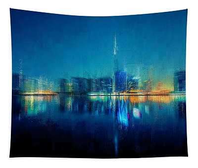 Night Of The City Tapestry
