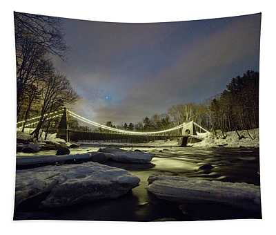 Night On The Carrabassett Tapestry