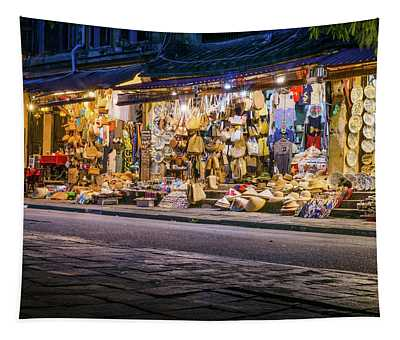 Night Shopping Tapestry