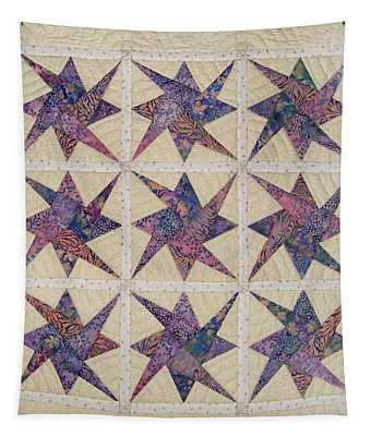 Nine Stars Dipping Their Toes In The Sea Sending Ripples To The Shore Tapestry