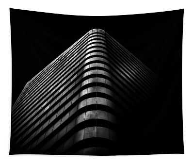 Tapestry featuring the photograph No 1 Dundas St W Toronto Canada 3 by Brian Carson