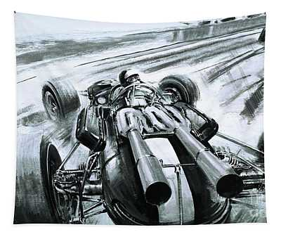 No Briton Had Won The Indianapolis 500 Until Jim Clark In His Lotus Ford Tapestry
